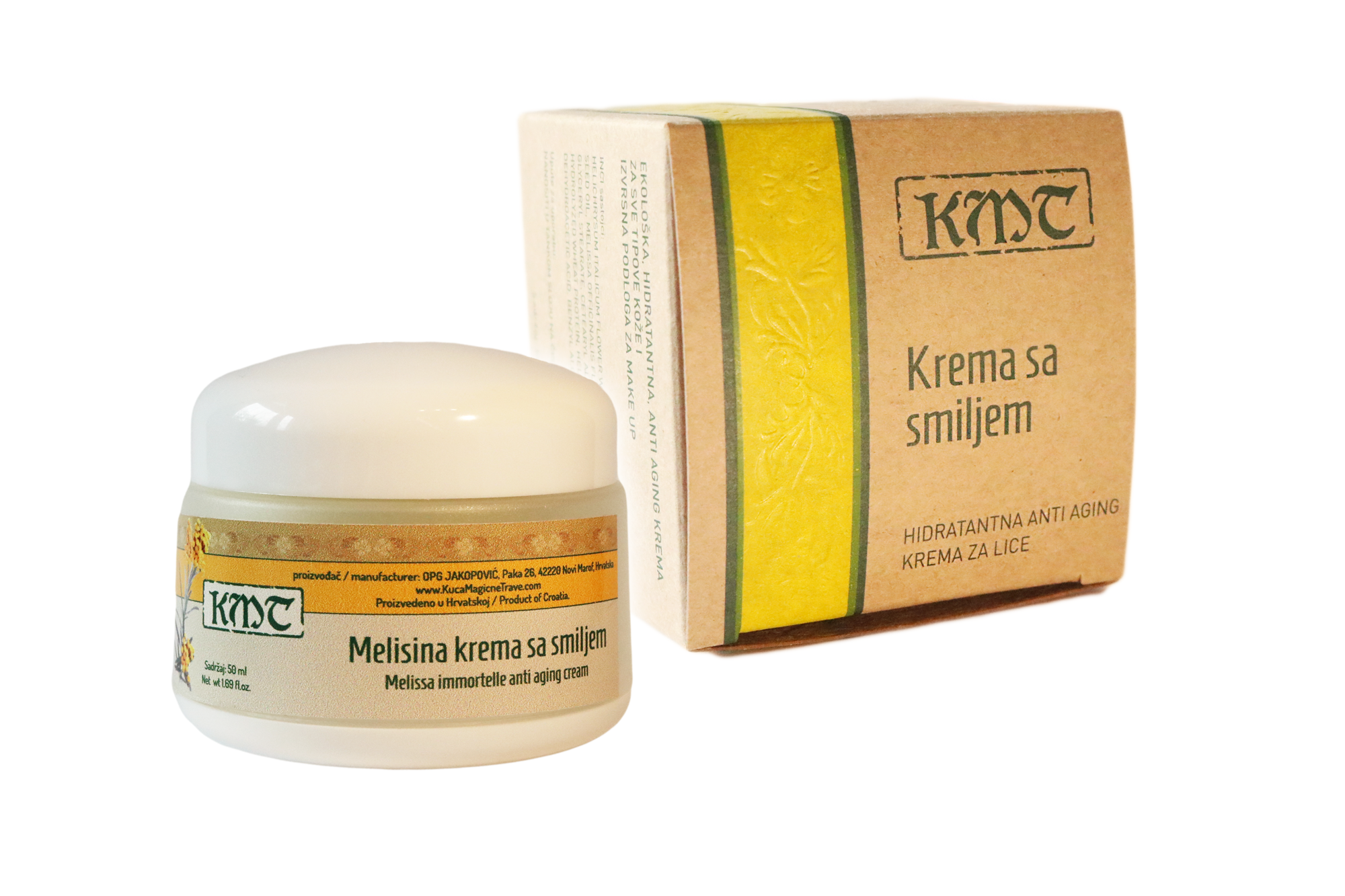 Cream with Immortelle/Krema sa smiljem
